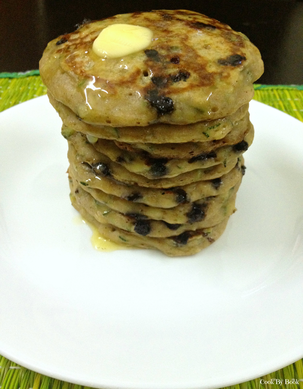 Skinny Banana Zucchini Chocolate-Chip Buttermilk Pancakes2