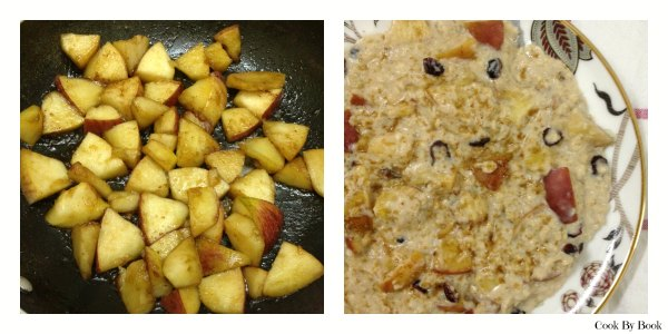 Apple Cinnamon Stovetop Oatmeal For one2