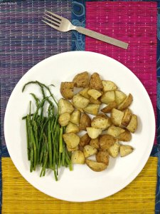 Oven Roasted Asparagus & Potatoes with PeanutButter & Buttermilk Dressing2